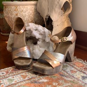Colleen Cordero Platforms in silver and copper